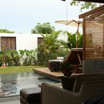 View of the private garden from the Pool Villa
