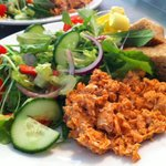 The Wild Red Salmon salads made with our own homegrown leaves are flying out this Summer!