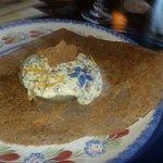 Crêpe au fond d'artichaud et crème d'algue