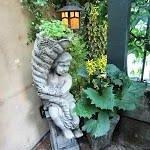 Statuary on patio