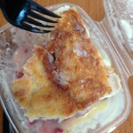 Raspberry bread pudding:microwave available if you want it warm