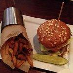 Wild mushroom and Swiss burger