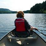 Canoeing on Loch Ard.