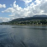 view from crannog cruise over fort william with nevis in the background! bliss