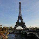 One of the nearby bridges that takes you to La Tour Eiffel