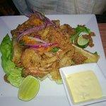 Jalea de Mariscos - Crispy fried fish and shell fish
