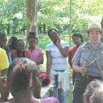 Park ranger presents an educational program