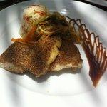 coriander seed crumbed fish