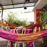 Hammocks on the front porch