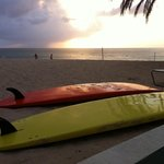 SUP sunset on seven mile beach