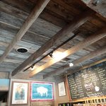 see the ceiling, then the menu-black eye coffee!