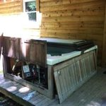 what our hot tub looked like when we arrived .... old and shot.