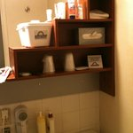 Bathroom had many basic things