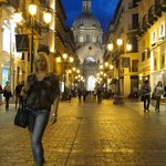 Yo en la noche de Zaragoza