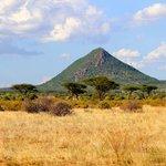 'Pyramid Mountain' is visible from many areas of Samburu Park