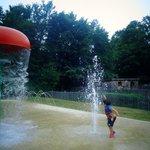splashing at the splash pad