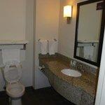 bathroom upon arrival