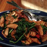 Fried Spinach with Mushrooms