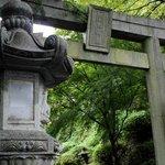 Torii and lantern