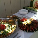 Catering for the U of O graduation. Provided by The Ring of Fire Restaurant and Catering