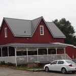 The Tea Room is on the veranda of a 19th century barn