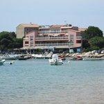 vus de l'hôtel à partir de la plage