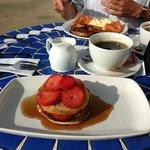 Pancakes & Fruit, Scrambled Egg & Salmon