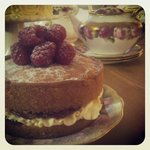 Homemade cakes and vintage tea