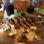 Fabulous whole fried snapper--delicioso!
