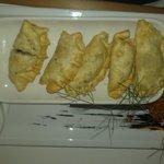 Deep fried fish ravioli