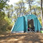 For low budget campers, our House Tent for three adults + 3 children