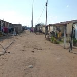 Homes in the poorer area of Soweto