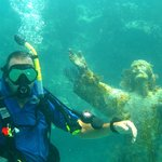Me at Christ of the Deep off Key Largo