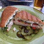 Chicken Panini - very good! Worth the stop.