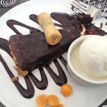 you will trade your shoes for this belguim chocolate desert