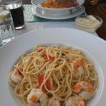 Spaghetti (Prawns with Chilli and Garlic)