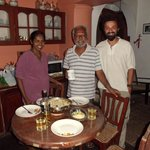 The warm and friendly hosts of the Betarice House, Meena and Kodi and me :)