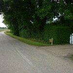 Entrance to drive on Lodge Lane.