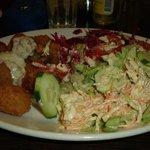 delicious scampi & Salad