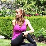 Laura Phelps in the garden