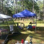 looking out into the campground..