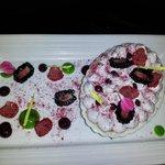"Key Lime ""Pie"" with wonderful berries"