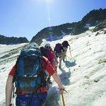 Heading up Whistler Glacier on a Glacier Hike