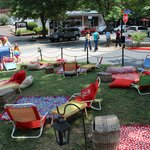 Great front lawn for kids and to relax