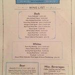 New wine list (summer 2013)