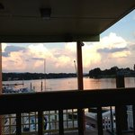 view from table.... sunset over SML