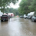 The RV parks, during a rare flood!