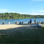 The sand beach on White Pond