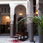 Courtyard lobby Riad Fes