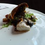 Wild Striped Bass (Potato, Miso, Black Truffle, Mizuna)